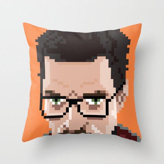 Gordon Freeman portrait Throw Pillow