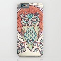 Owl on branch iPhone 6 Slim Case