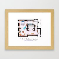 Carrie Bradshaw apartment from Sex and The City Framed Art Print