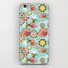 Xmas Robins iPhone & iPod Skin