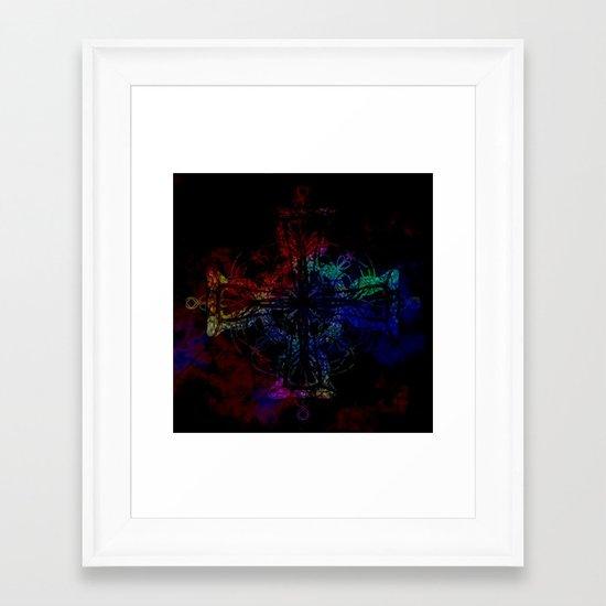 Freedom Cross Framed Art Print