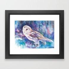 Snow Owl Framed Art Print