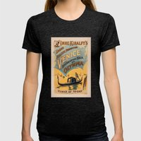 Vintage Theatrical Poste… Womens Fitted Tee Tri-Black SMALL