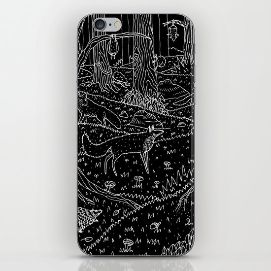 Nocturnal Animals of the Forest iPhone & iPod Skin