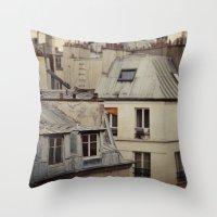 Paris roofs Throw Pillow