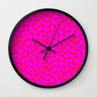 Hot Pink Cheese Doodles … Wall Clock