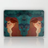 lady with bird Laptop & iPad Skin