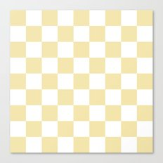 Checker (Vanilla/White) Canvas Print