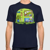 Not The Garden Of Eden Mens Fitted Tee Navy SMALL