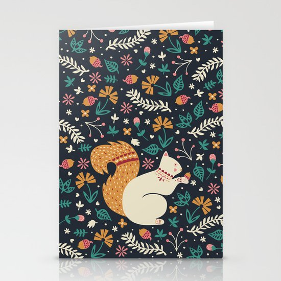 Merry Little Squirrel  Stationery Card