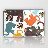 Elephants Pattern #4SD Laptop & iPad Skin