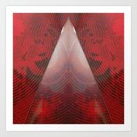 FX#411 - Red Pyramid GO! Art Print
