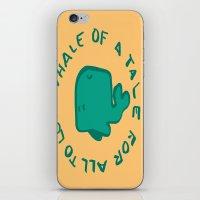Whale Love iPhone & iPod Skin