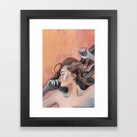 Flavor Of Orange Framed Art Print