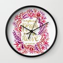 Anything's Possible – Gold & Red Wall Clock
