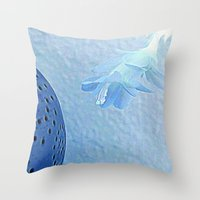 Blue for You Throw Pillow