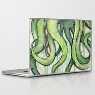 Cthulhu Green Tentacles Laptop & iPad Skin