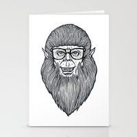 teen wolf Stationery Cards featuring Nerdy Teen Wolf by Peter Kramar