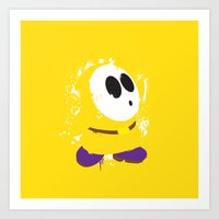Yellow Shy Guy Splattery… Art Print
