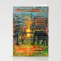 Sunset Walk Stationery Cards