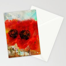 Champ de coquelicots Stationery Cards