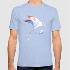 Flyby Mens Fitted Tee Tri-Blue SMALL