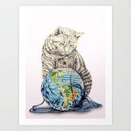 In Which Our Feline Deit… Art Print