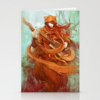 wandering minstrel Stationery Cards