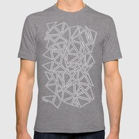 Abstract New Grey Mens Fitted Tee Tri-Grey SMALL