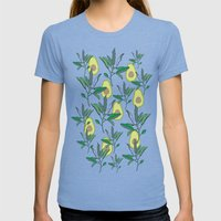 AVOCADO Womens Fitted Tee Tri-Blue SMALL