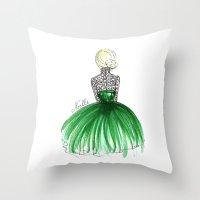 Emerald Dress Throw Pillow
