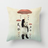 Pandachutes Throw Pillow