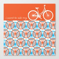 I Want To Ride My Bicycl… Canvas Print