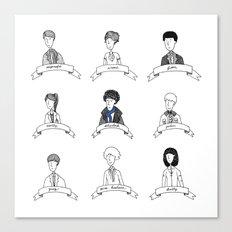 Sherlock Character Sketches Canvas Print