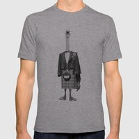 duckman Mens Fitted Tee Athletic Grey SMALL