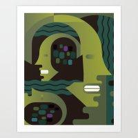 Nike and Neptune Art Print