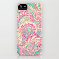 Pink Turquoise Girly Chi… iPhone (5, 5s) Slim Case