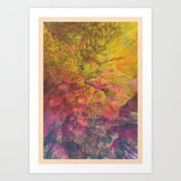 NEON MOUNTAINS / PATTERN SERIES 006 Art Print