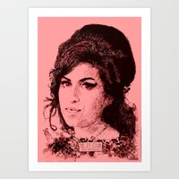 27 Club - Winehouse Art Print