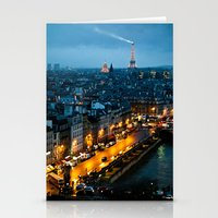 paris Stationery Cards featuring Paris by Luca Spanu