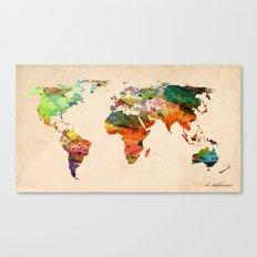 Map World  Canvas Print