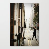 Cable Car Crossing Canvas Print