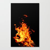 Fire Element Flames Bold Orange Red Yellow Brilliant Color Modern Art Photography Canvas Print