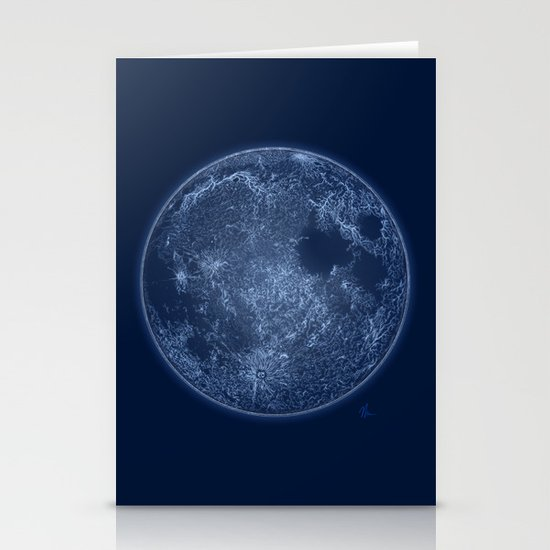 Dark Side of the Moon - Painting Stationery Card