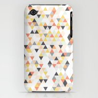 iPhone 3Gs & iPhone 3G Cases featuring Ice Cream Geometric Triangles by Boelter Design Co
