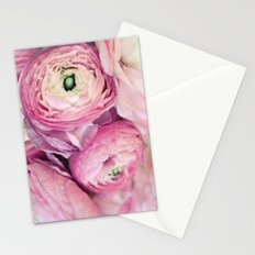 Pink Ranunculus Stationery Cards