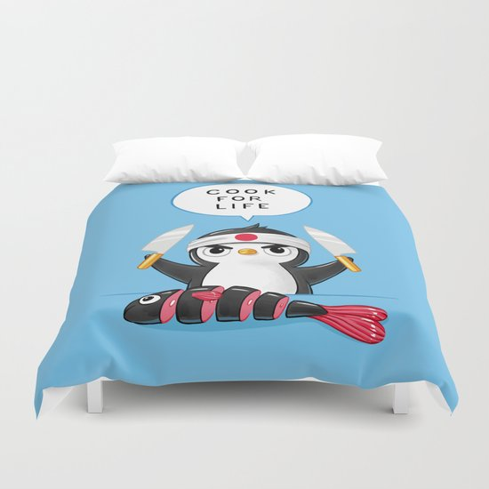 Penguin Chef Duvet Cover