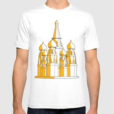 (Saint Basil's) Cathedral White Mens Fitted Tee SMALL