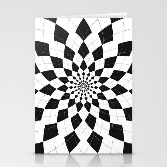 Black & White Argyle Stationery Card