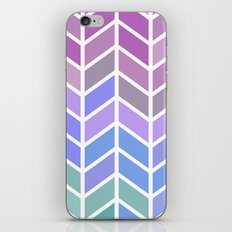 blue & purple chevron iPhone & iPod Skin